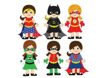 Female superhero clipart 3 clipart