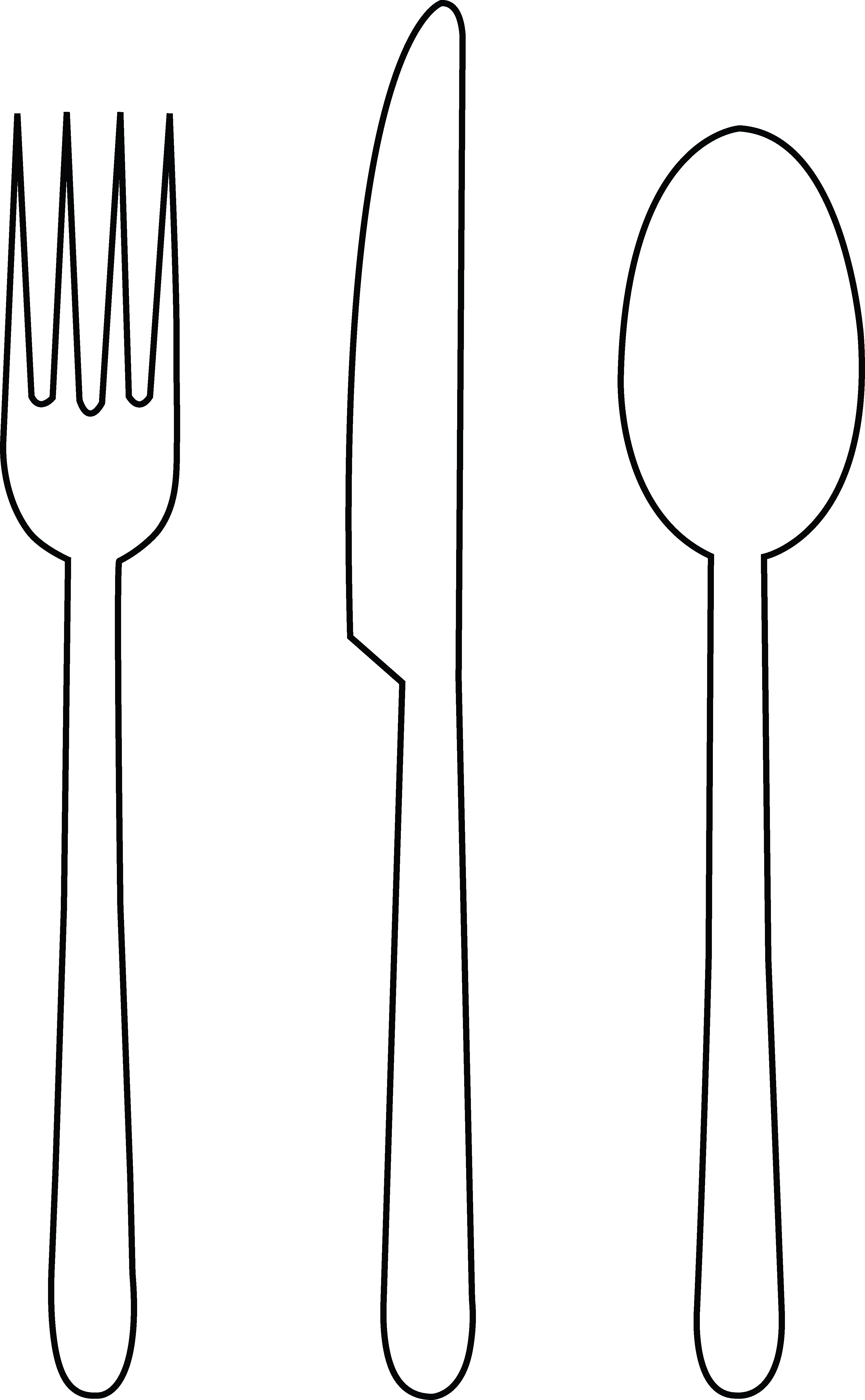 Fork knife silverware clip art free vector in open office drawing
