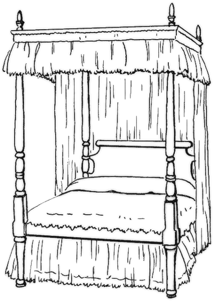 Free bedroom clipart 2 pages of clip art