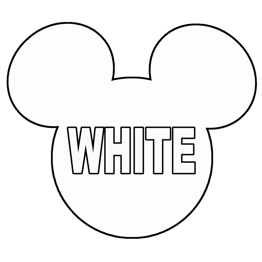 Free printable mickey mouse head template