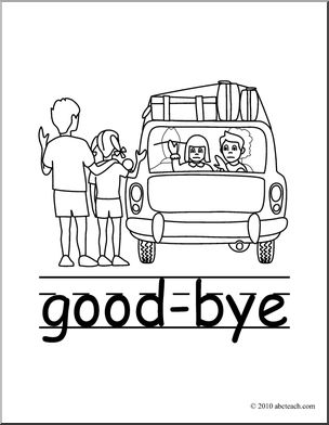 Goodbye clip art basic words good bye