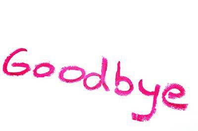 Goodbye clip art text photo library