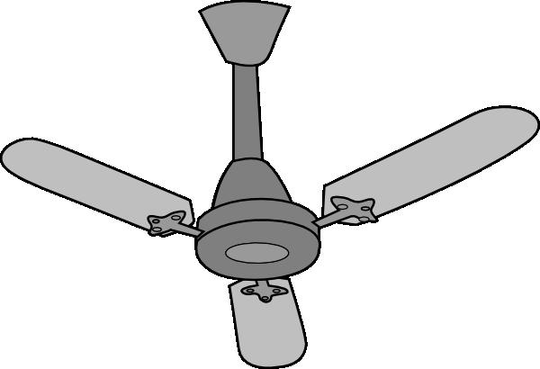 Gray fan clip art at vector clip art