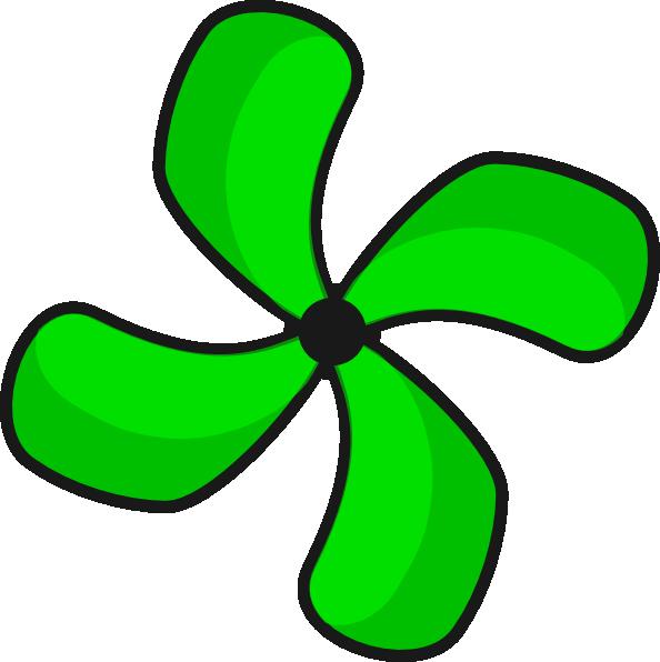 Green fan 2 clip art at vector clip art