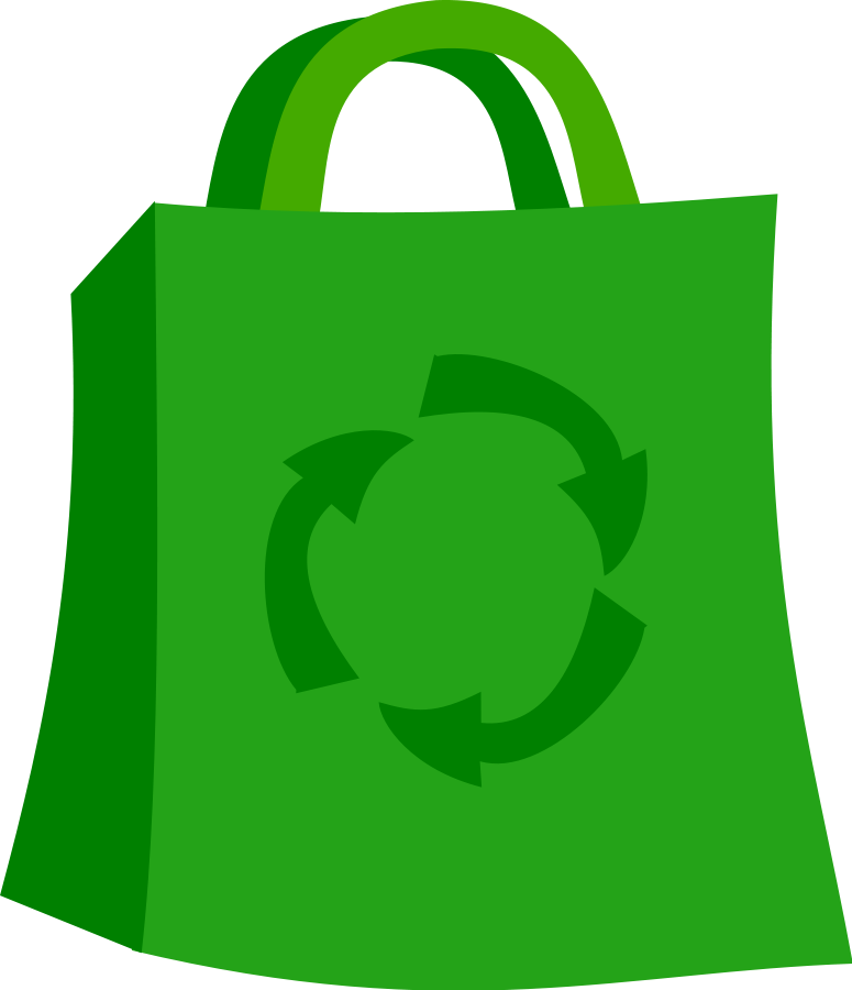 Green shopping bag clip arts for web free