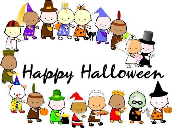 Halloween costume parade clipart clipartxtras