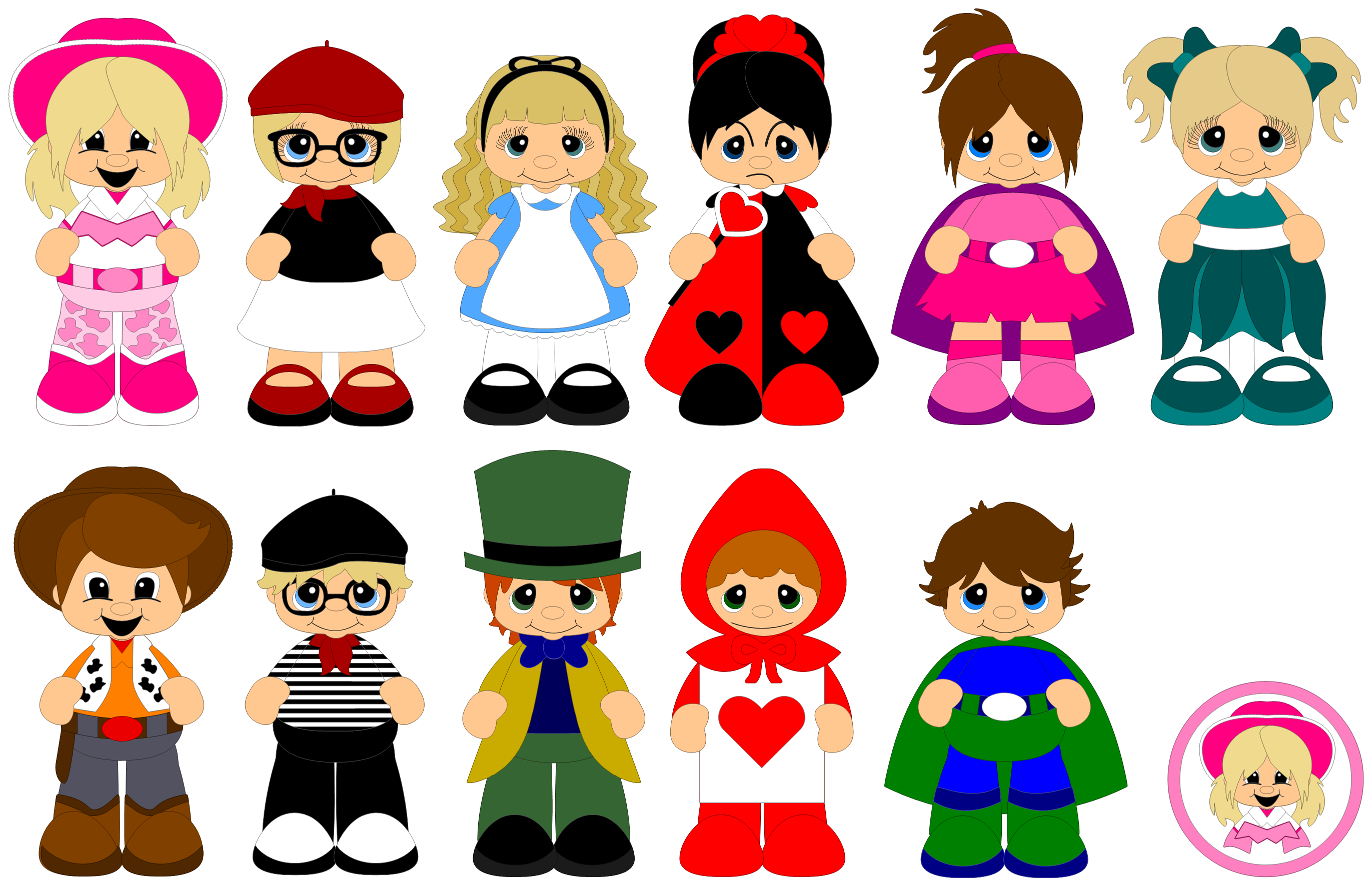 Halloween costume parade clipart