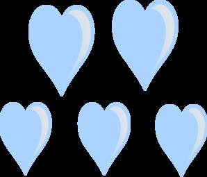 Heart raindrops clip art at vector clip art