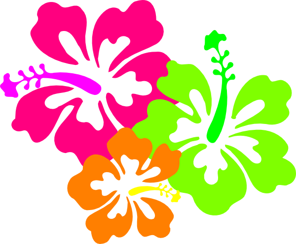 Hibiscus candyleiscious lei clip art at vector clip