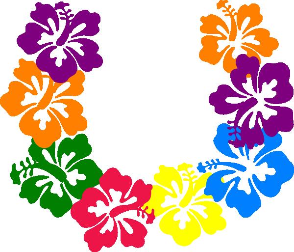 Hibiscus lei clip art at vector clip art