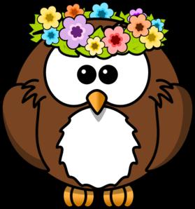 Hippy owl clip art at vector clip art