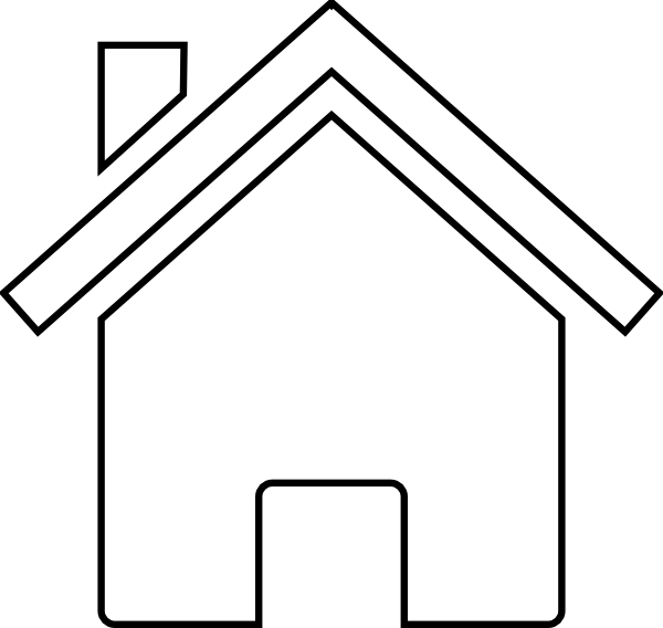 House  black and white clip art black and white home clipart