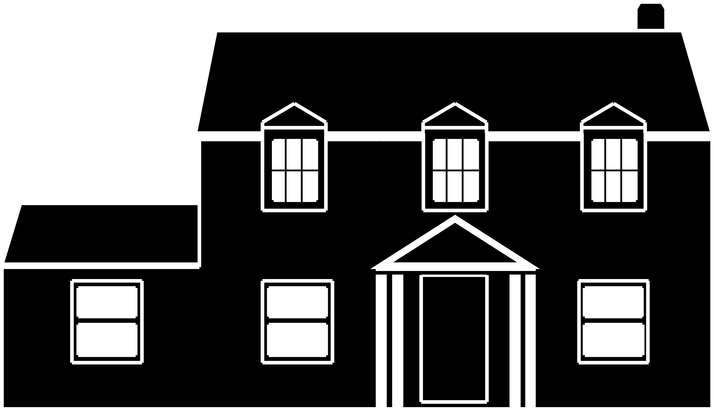 House  black and white clipart black and white house
