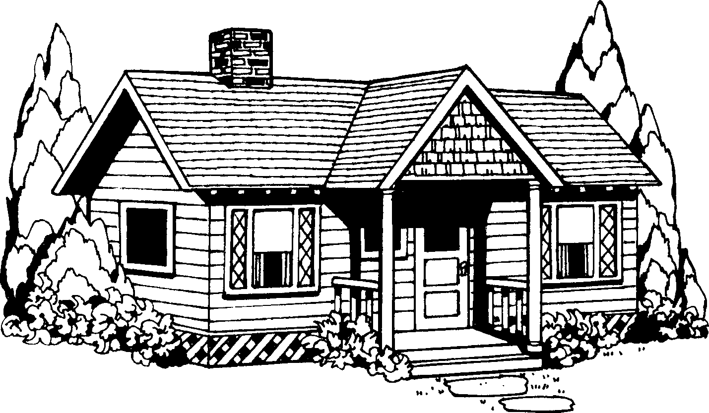 House  black and white clipart of house black and white