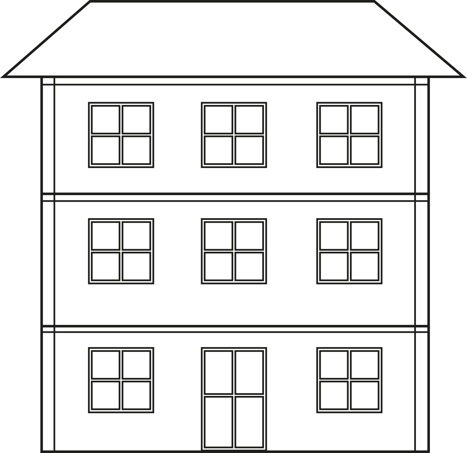 House  black and white doll house clipart black and white clip art library