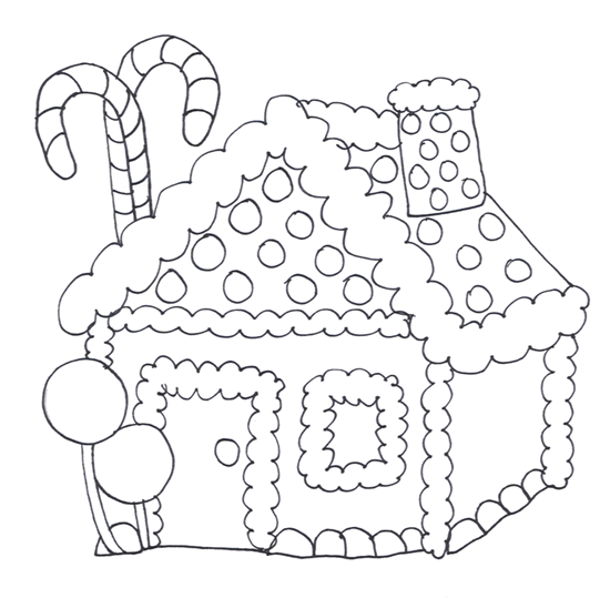 House  black and white gingerbread house clipart black and white clipartxtras 2