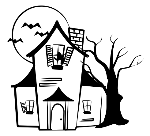 House  black and white haunted house clipart black and white many interesting cliparts