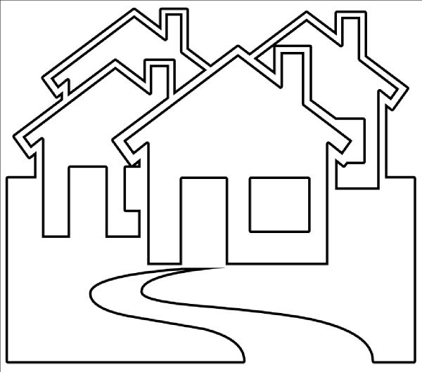 House  black and white house black and white clip art house outline