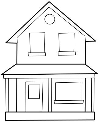 House  black and white house black and white clip art