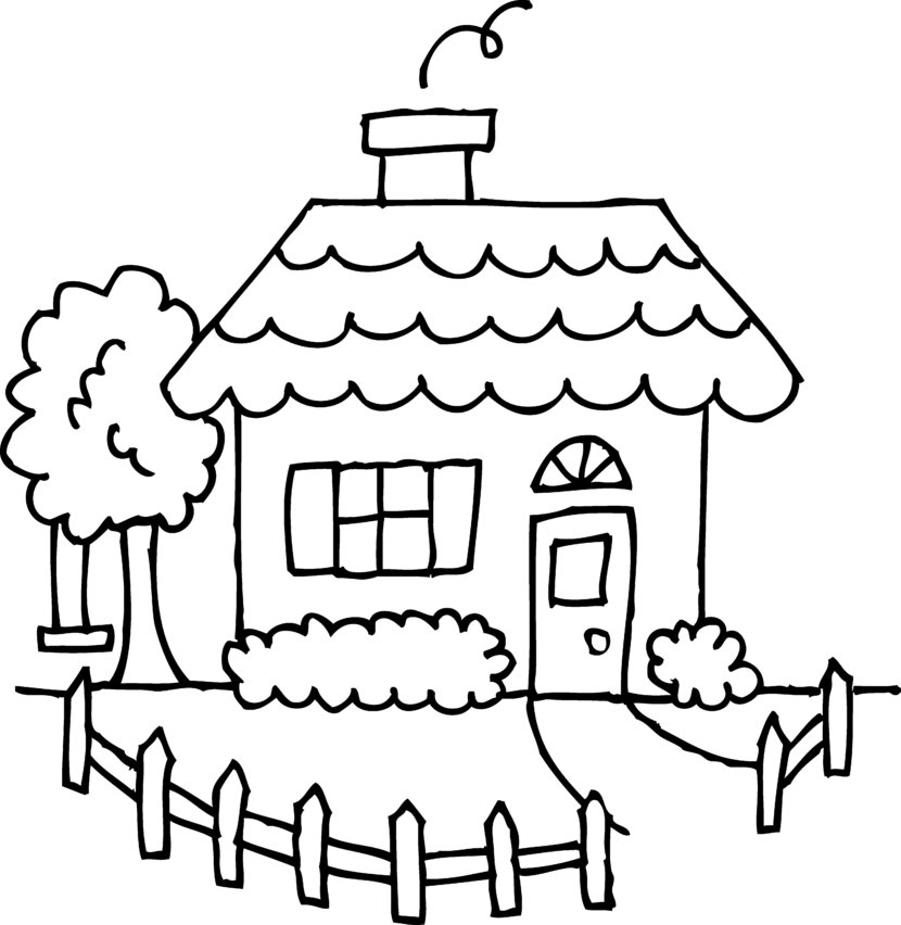 House  black and white house clipart black and white 2
