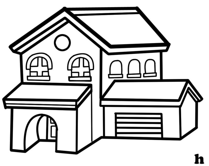 House  black and white house clipart black and white clipart free download