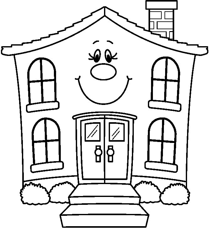 House  black and white house clipart black and white number
