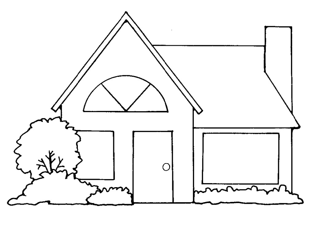 House  black and white house clipart coloring black white