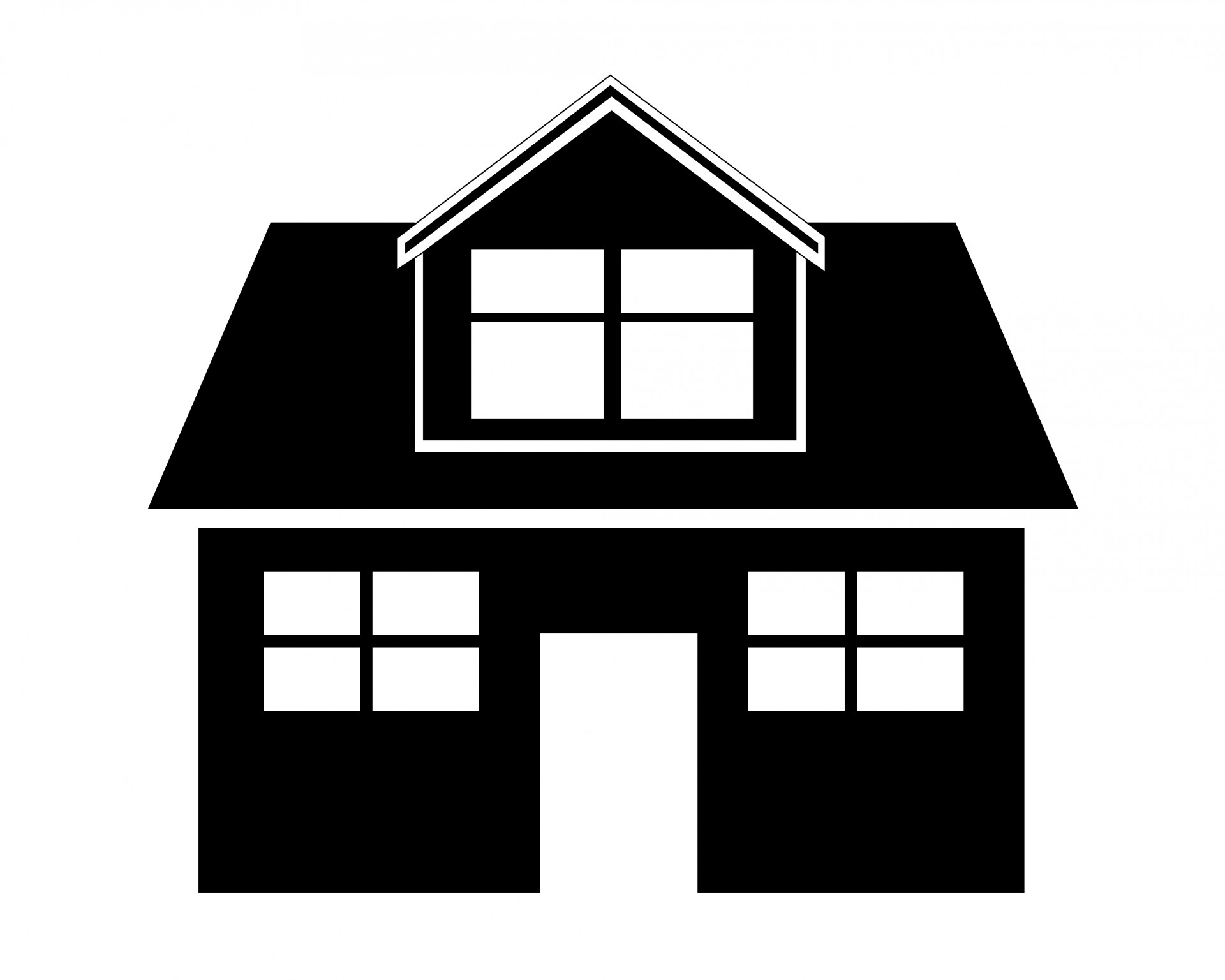 House  black and white house clipart free pictures