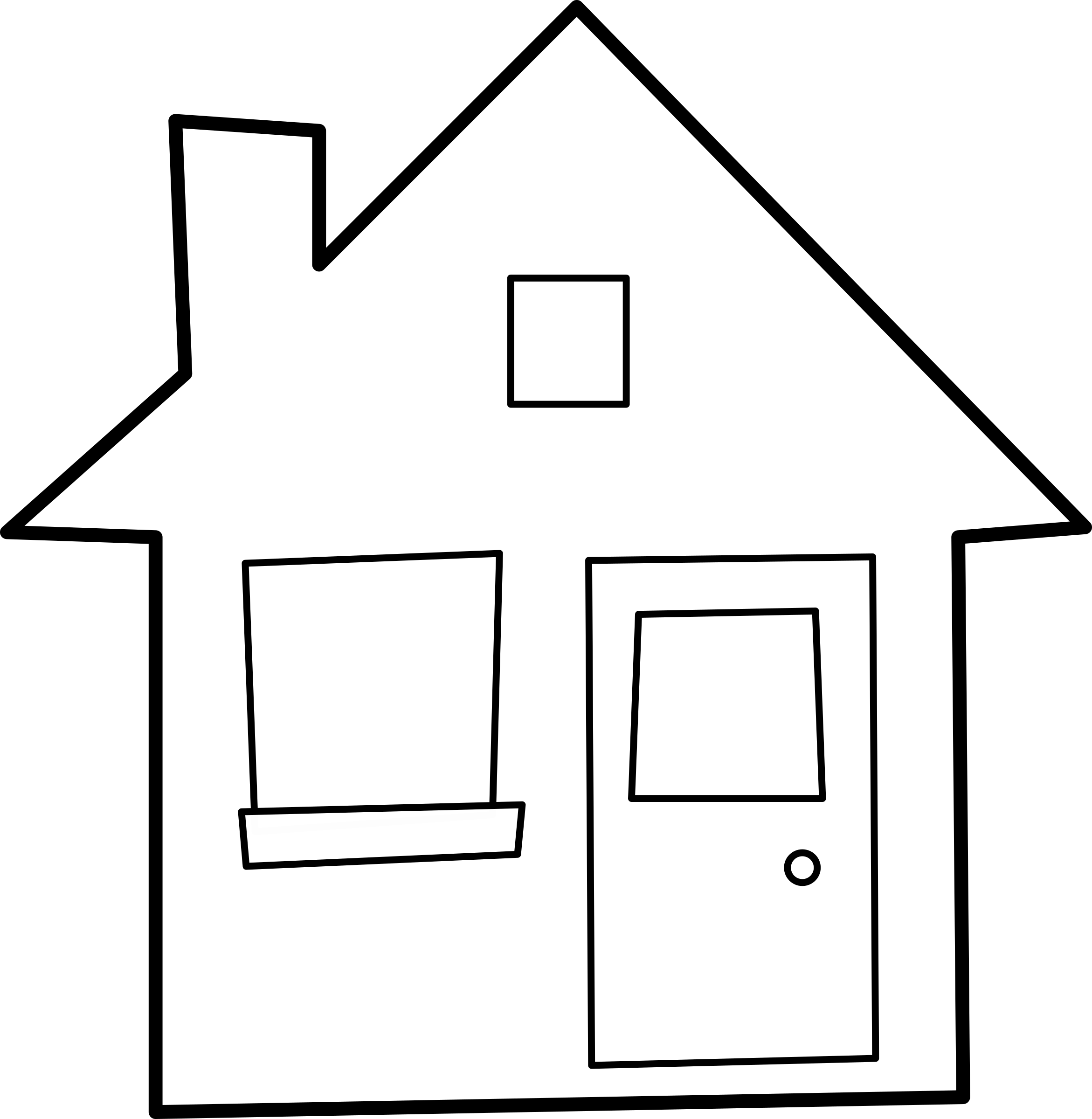 House  black and white house outline cliparts free download clip art