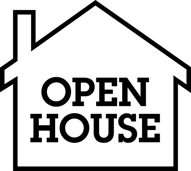 House  black and white outline school open house clipart cliparts and others art