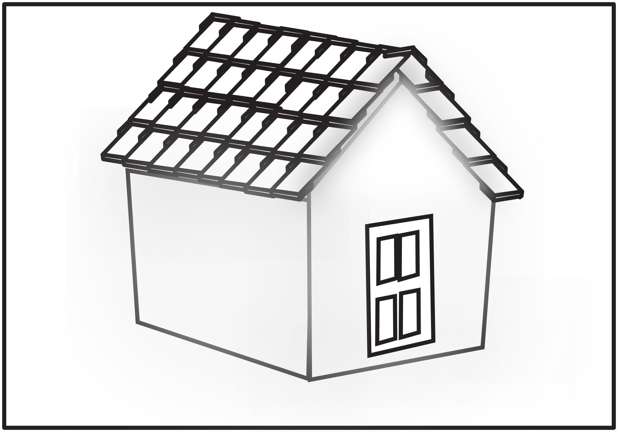 House  black and white roof clipart black and white pencil in color roof