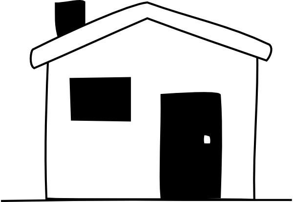 House  black and white white house clipart black and