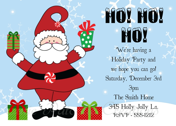 How to make christmas party invitations all ideas clip art