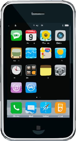 Iphone clip art at vector clip art 2