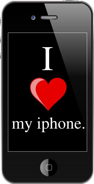Iphone clip art at vector clip art 3