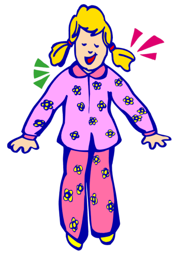 Kids in pajamas clipart clip art library