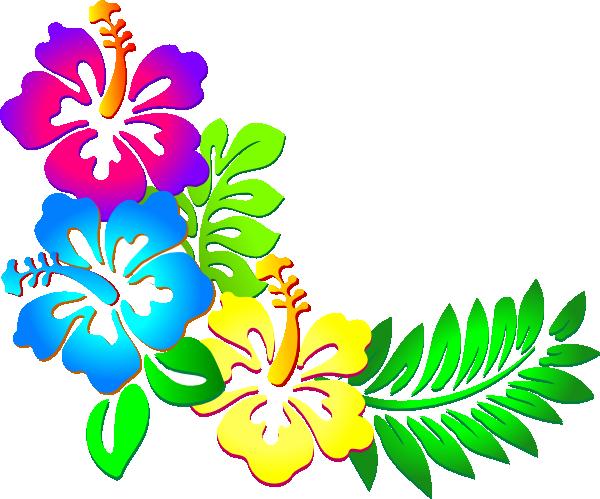 Lei hibiscus flower clip art hibiscus corner clip art