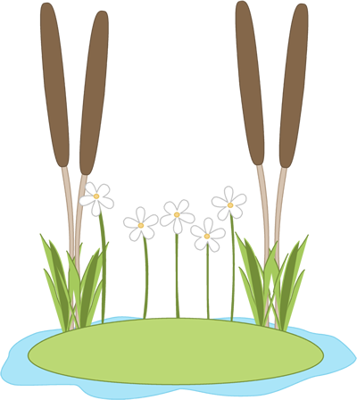 Lily pond clipart clipart