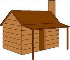 Log home clipart