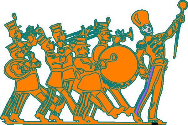 Marching band clip art at vector clip art