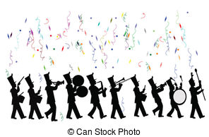 Marching band vector clipart images clip