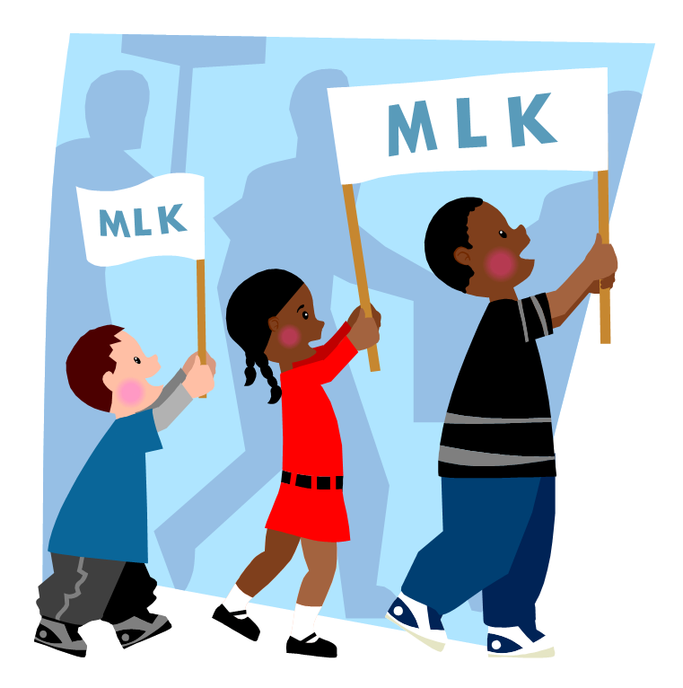 Martin luther king parade clip art clipart free download