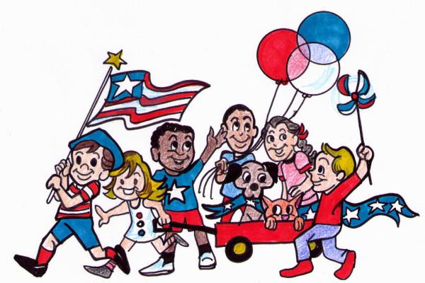 Memorial day parade saint joseph school clip art