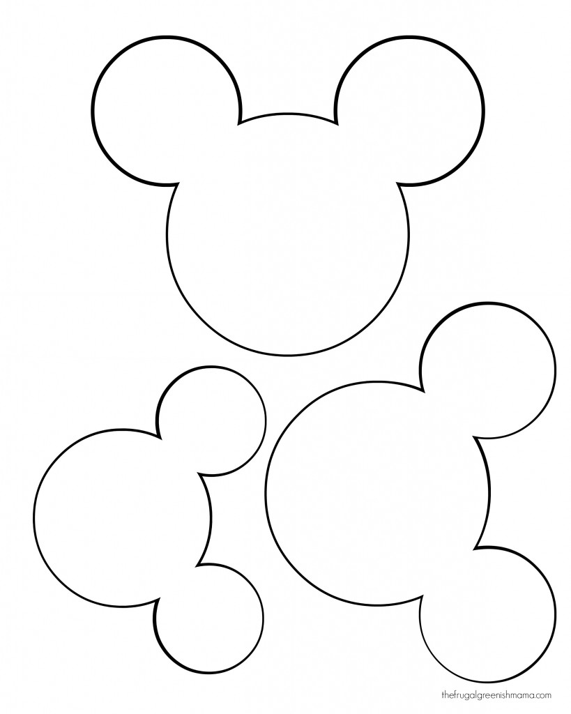 Mickey mouse head mickey head template printable calendar