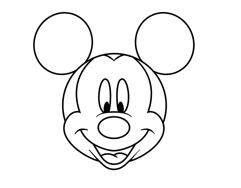 Mickey mouse head printable 8 mickey mouse face coloring pages 7