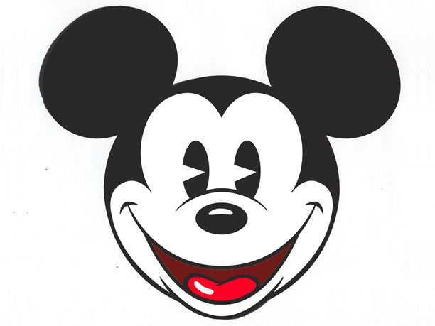 Mickey mouse head template free download clip art