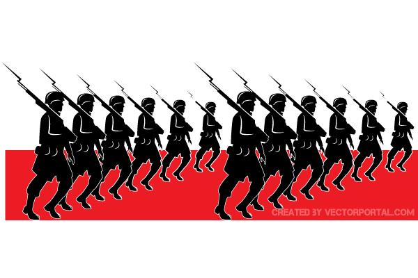 Military parade vector art freevectors clip art