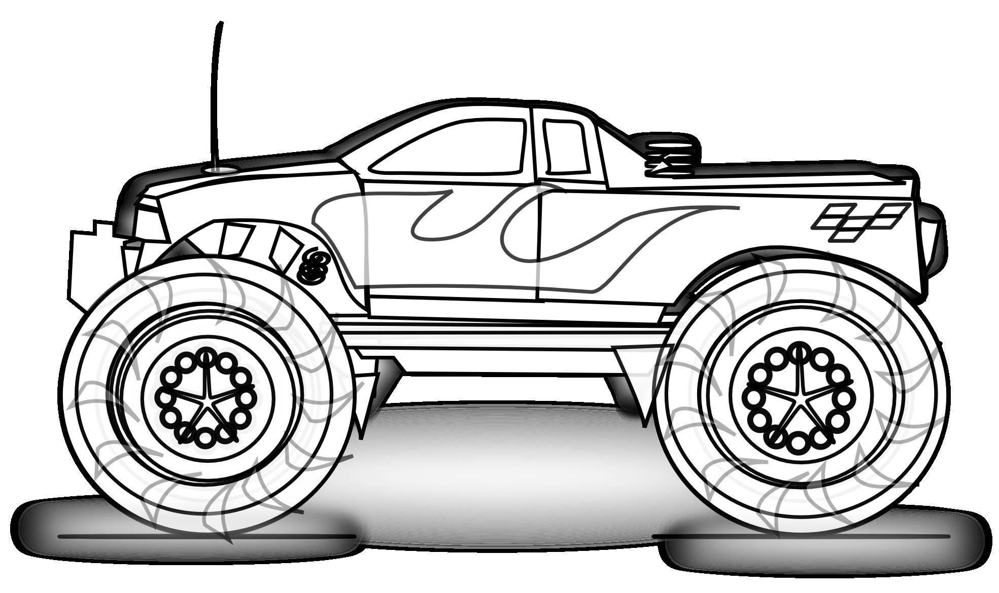 Monster truck clip art clipart 2