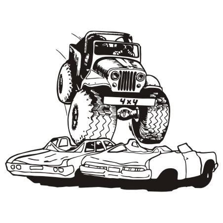 Monster truck clipart image