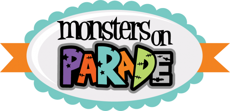 Monsters on parade svg cut files for scrapbooking monster svgs clip art
